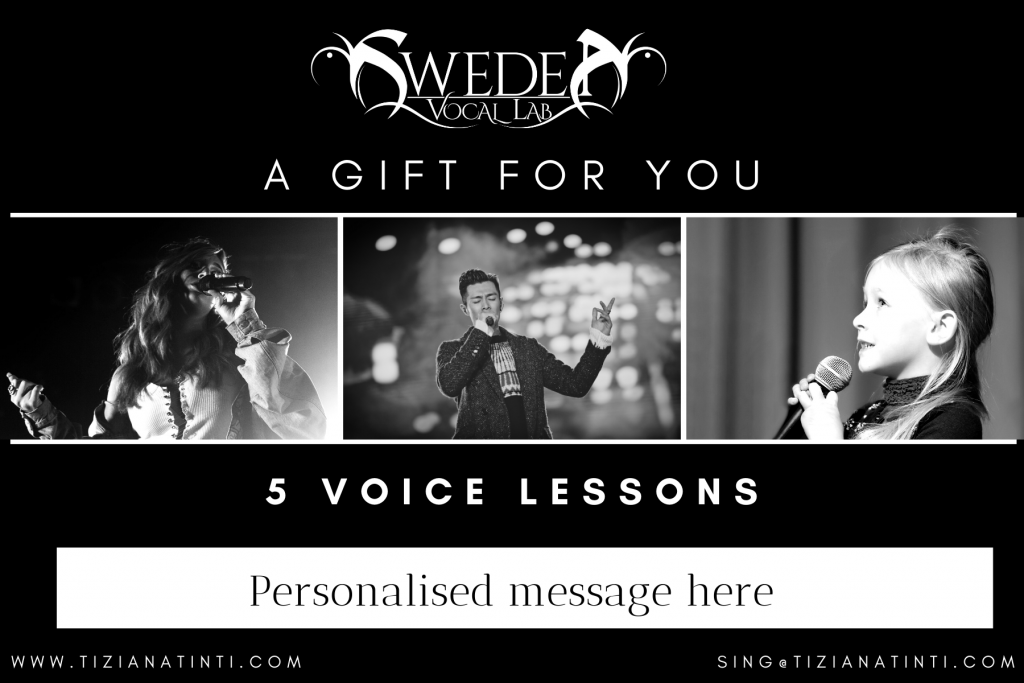 Voice Lesson Gift Card 2021 C